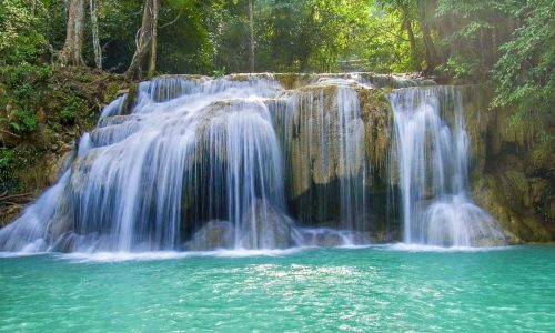 feature erawan waterfall in erawan national park
