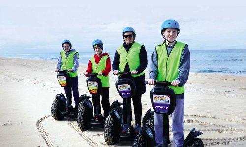 feature family segway adventure on ninety mile beach east gippsland