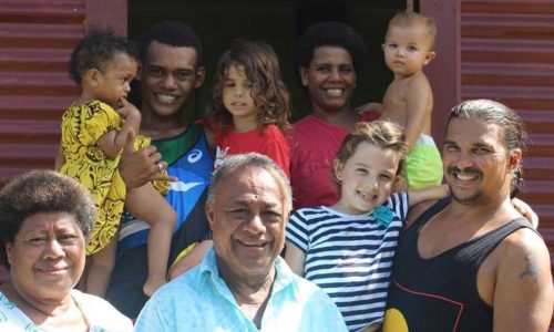 feature juan and the kids in fiji