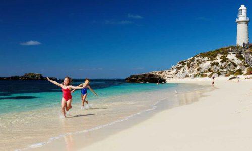 feature pinky beach on rottnest island. image rottnest island authority