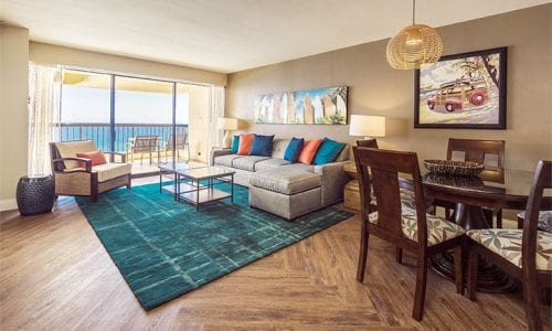 oceanfront apartment at waikiki beach tower