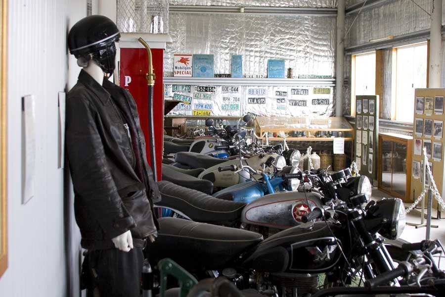 the motorcycle museum at robert stein wines